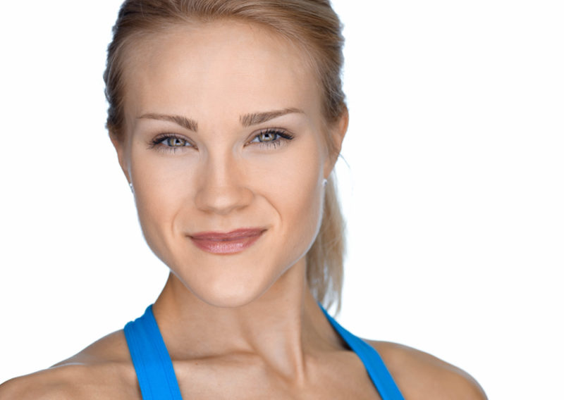 gorgeous fitness model trainer with a not typical headshot and doesn't look super jacked